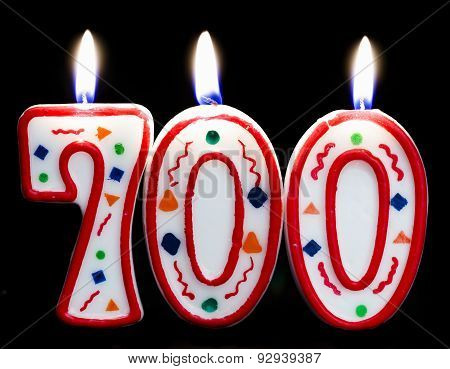 number 700 birthday candle