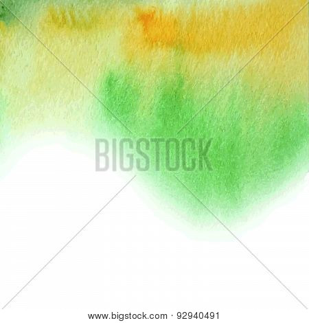 Watercolor Abstract Summer Background