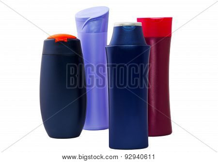 Lastic Bottles Isolated On A White Background
