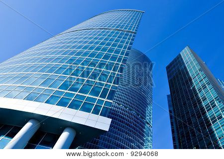 blue texture of glass building