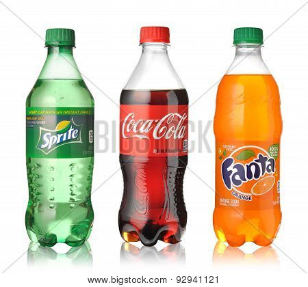 Coca-cola, Fanta And Sprite