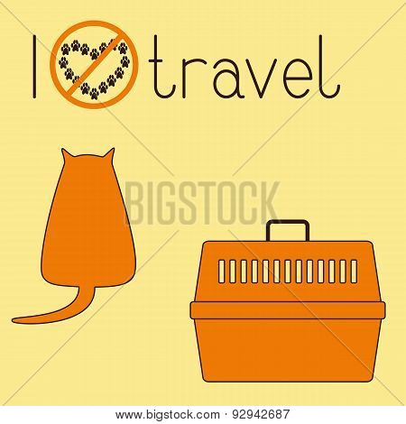 Fat Cat And Pet Carrier