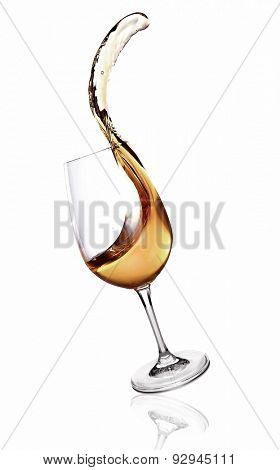 Splash of wine isolated on white