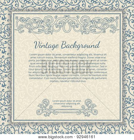 Vintage background with flourish border