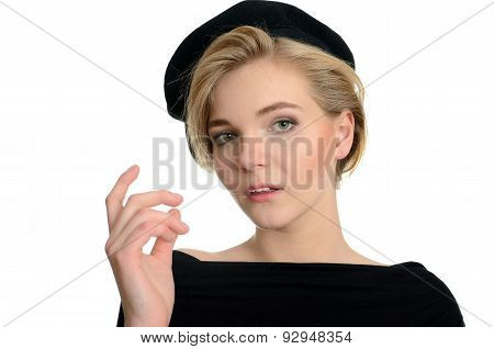 Young Model In Beret