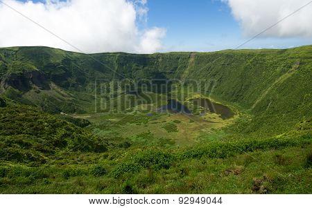 Caldeira Do Faial Volcano Crater, in the Azores