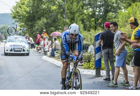 The Cyclist Bartosz Huzarski - Tour De France 2014