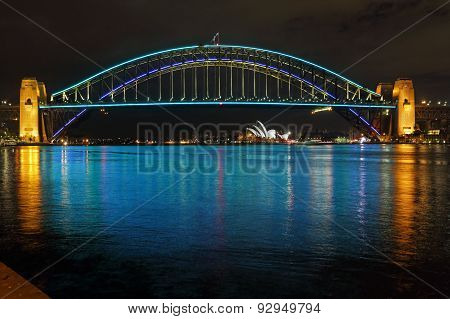 Sydney Harbour Bridge In Blues