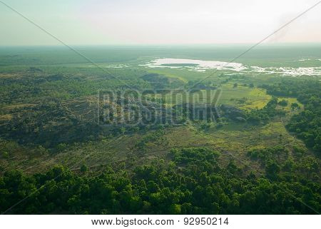 An Aerial View Of The Marshes And Ranges Of Kakadu National Park, Northern Territory, Australia
