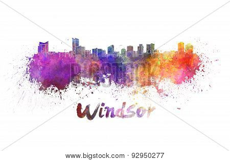 Windsor Skyline In Watercolor