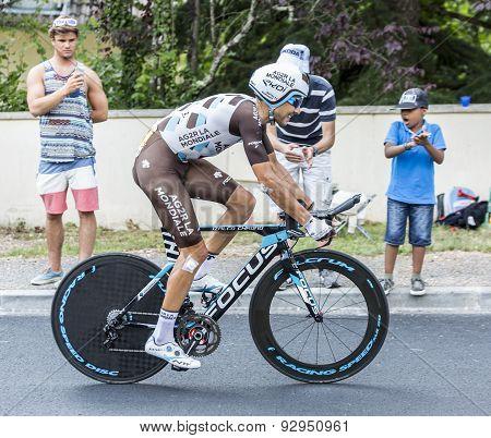 The Cyclist Matteo Montaguti - Tour De France 2015