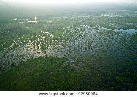 Aerial view of Marsh In Kakadu National Park