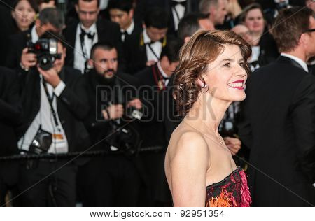 Actress Irene Jacob attends the opening ceremony and premiere of La Tete Haute ( Standing Tall ) during the 68th annual Cannes Film Festival on May 13, 2015 in Cannes, France.