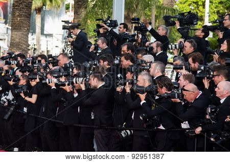 Photographers. Opening Ceremony 'La Tete Haute' Premiere. 68th Annual Cannes Film Festival at Palais des Festivals on May 13, 2015 in Cannes, France.