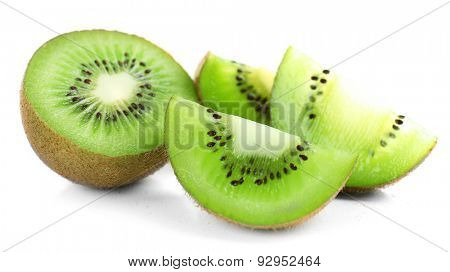 Juicy kiwi fruit isolated on white