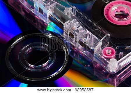 Cd's And Audio Cassette Tape