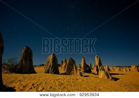 Pinnacles at Night In Nambung National Park