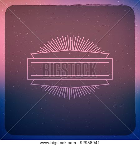 Blue And Pink Hipster Background