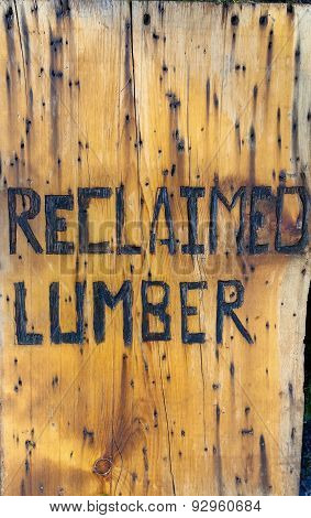 sign for reclaimed  lumber