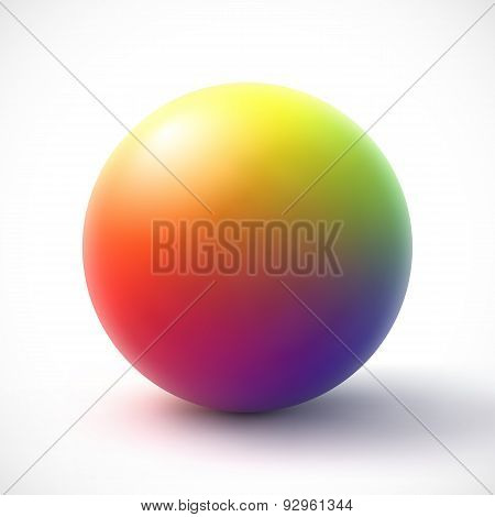 Colorful sphere on white background