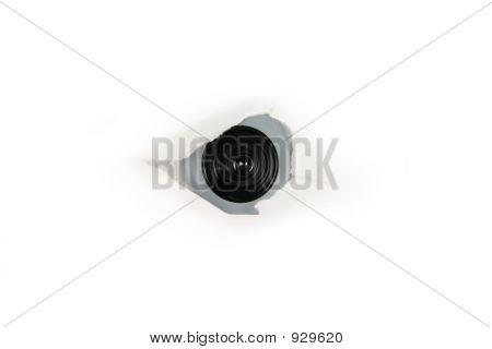 Eye Of Spy, Web Cam Behind A Paper Hole