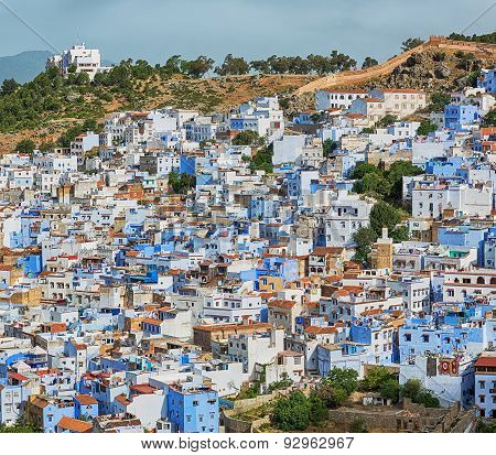 Beautiful city Chefchaouen in Morocco.