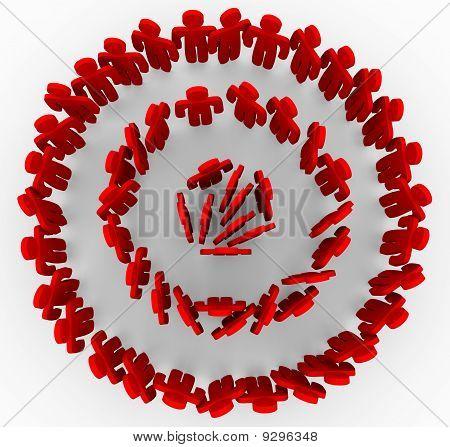 Targeted People In Red Rings Of Bullseye