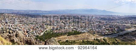 Panoramic View Of Izmir City In 2015