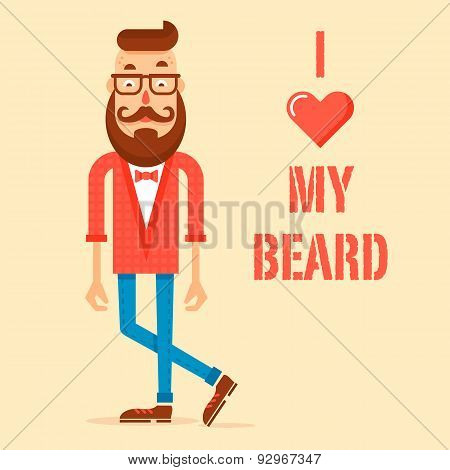 Hipster Guy With The Modern Beard