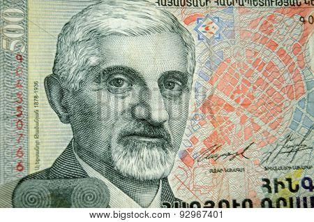 Alexander Tamanian on Armenia Banknote
