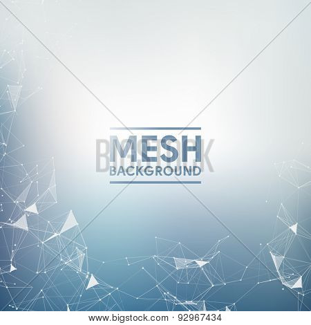 Blue Mesh Vector Background | EPS10 Design