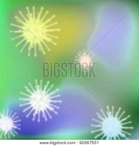 Background with bacteria. Eps 10 Vector image