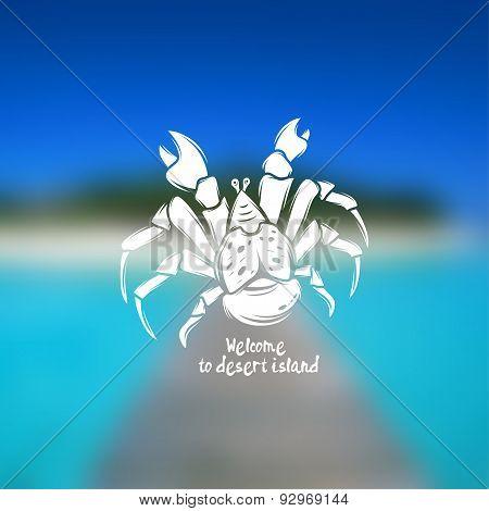 Vector illustration of palm thief crab.