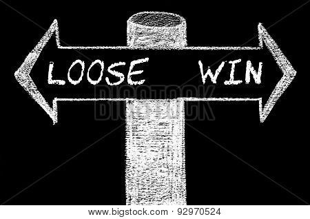 Opposite Arrows With Loose Versus Win
