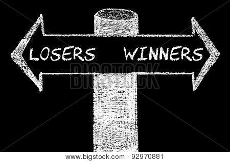 Opposite Arrows With Losers Versus Winners