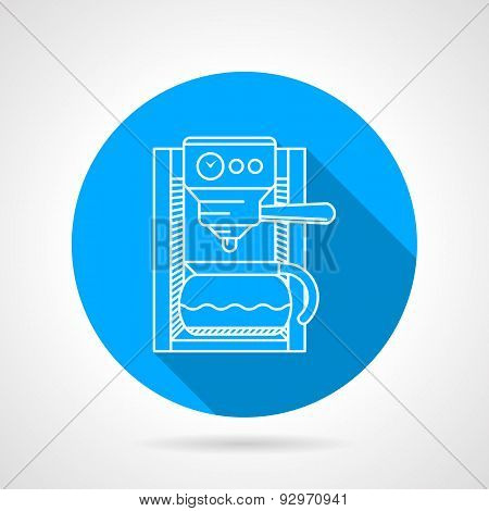Line vector icon for coffee machine