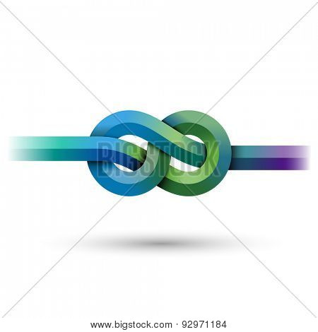 Abstract knot, eps10 vector