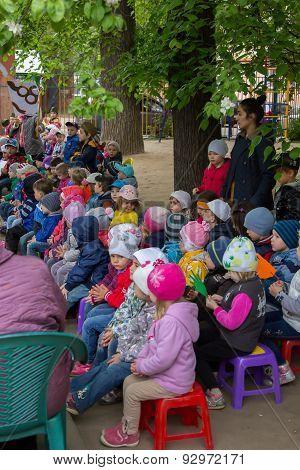 Children Sporting Event In Nursery School