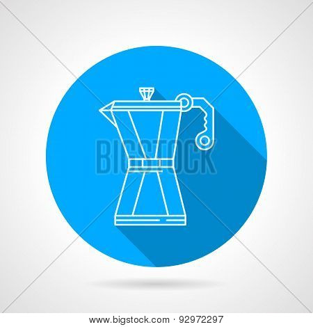 Line vector icon for coffee maker