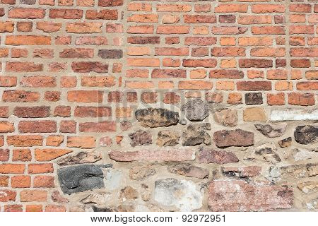 Ancient Colorful Brick Wall