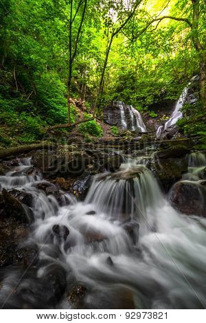 Soco Falls near Cherokee, North Carolina