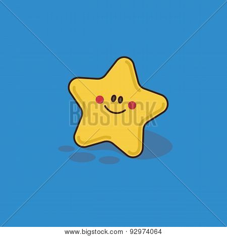 yellow starfish with smile