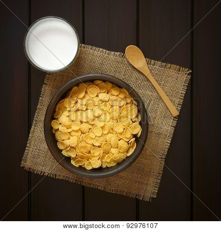 Corn Flakes Breakfast Cereal with Milk