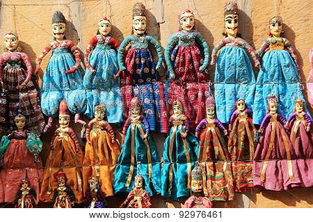 Hand Crafted, Colorful Dolls