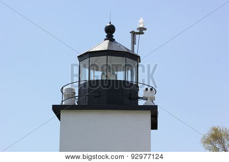 Fort Point Lighthouse, Maine on a beautiful spring day