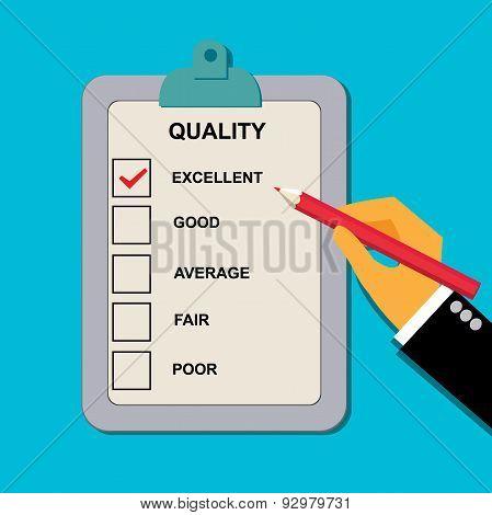 Evaluation, quality, check