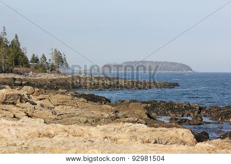 Rocky Coastline of Maine near Marshall Point Lighthouse