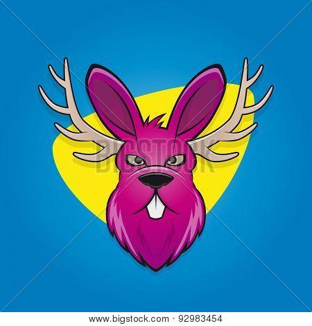 funny cartoon jackalope