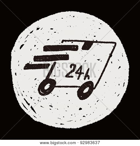 24Hr Delivery Doodle