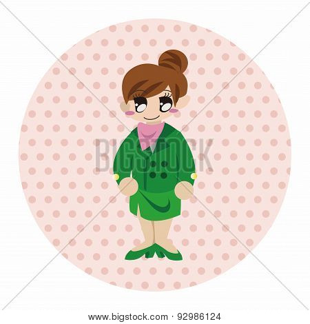 Flight Attendants Theme Elements Vector,eps
